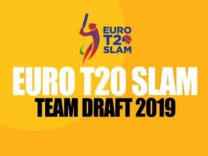 euro t20 slam draft, squads, players, marquee and icon players