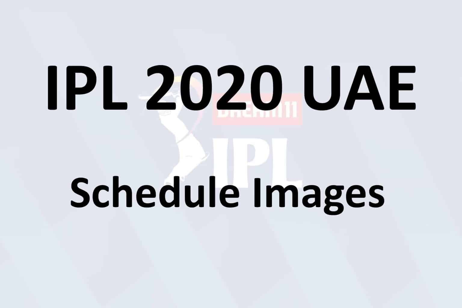 Ipl 2020 Schedule Pdf And Ipl 2020 Time Table Download