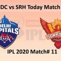IPL Match#11 DC vs SRH Predicted Playing XI, Head to Head Record, Pitch Report and Weather Conditions