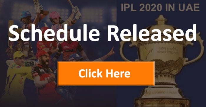 IPL 2020 New Schedule Released Today, 04 September 2020