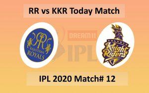 RR vs KKR Match 12 - 30 September - Dubai Cricket Stadium