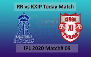 RR vs KXIP match 09 - 27 September - IPL 2020