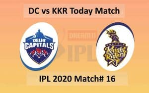 DC vs KKR Match 16 - Sharjah cricket stadium
