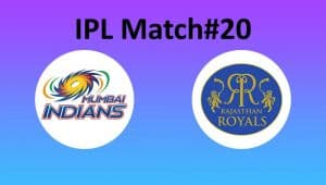IPL Match 20 - Mumbai vs Rajasthan - Abu Dhabi - 06 October - Today