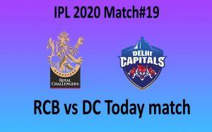 RCB vs DC today match - 5 october - dubai stadium