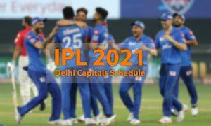 delhi capitals ipl 2021 schedule