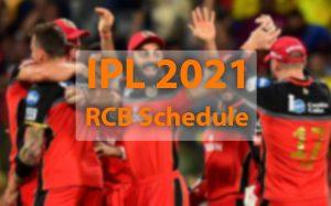 RCB schedule for ipl 2021
